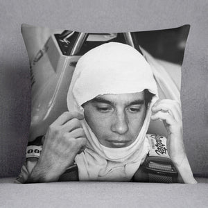 Racing driver Ayrton Senna at Silverstone Cushion