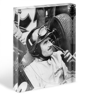 Racing driver Graham Hill Acrylic Block - Canvas Art Rocks - 1