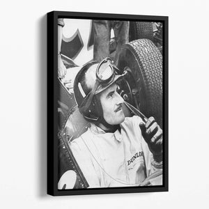 Racing driver Graham Hill Floating Framed Canvas