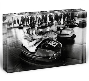 Racing drivers on the dodgems Acrylic Block - Canvas Art Rocks - 1