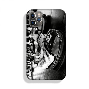 Racing drivers on the dodgems Phone Case iPhone 11 Pro Max