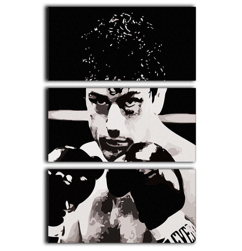 Raging Bull 3 Split Panel Canvas Print - Canvas Art Rocks - 1