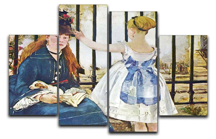 Railway by Manet 4 Split Panel Canvas