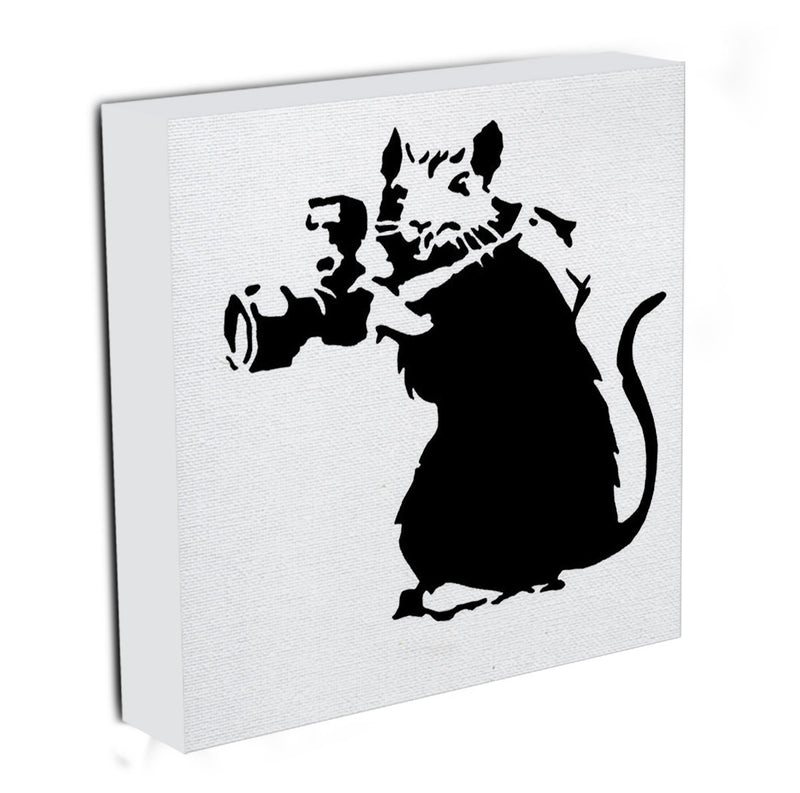Banksy Rat With Camera Canvas Print & Poster - Canvas Art Rocks