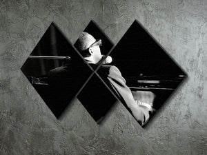 Ray Charles at the piano 4 Square Multi Panel Canvas  - Canvas Art Rocks - 2