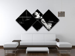 Ray Charles at the piano 4 Square Multi Panel Canvas  - Canvas Art Rocks - 3