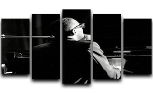 Ray Charles at the piano 5 Split Panel Canvas  - Canvas Art Rocks - 1
