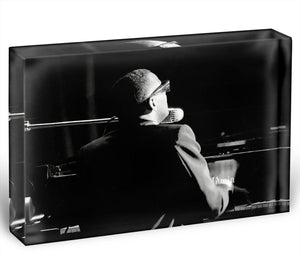 Ray Charles at the piano Acrylic Block - Canvas Art Rocks - 1
