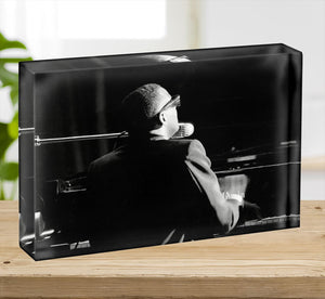 Ray Charles at the piano Acrylic Block - Canvas Art Rocks - 2