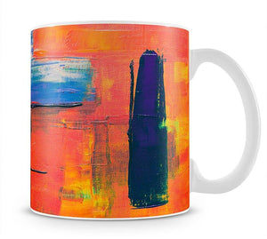 Red And Blue Abstract Painting Mug - Canvas Art Rocks - 1