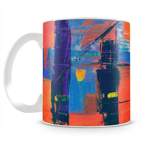 Red And Blue Abstract Painting Mug - Canvas Art Rocks - 2