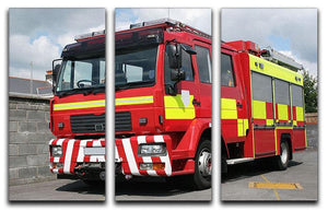 Red British fire engine 3 Split Panel Canvas Print - Canvas Art Rocks - 1