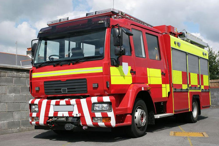 Red British fire engine Wall Mural Wallpaper