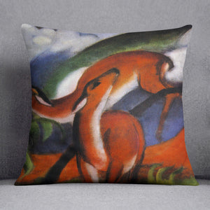 Red Deer II by Franz Marc Cushion