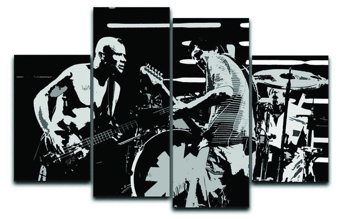 Red Hot Chili Peppers 4 Split Panel Canvas