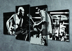 Red Hot Chili Peppers 4 Split Panel Canvas - Canvas Art Rocks - 2