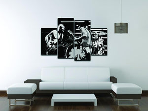 Red Hot Chili Peppers 4 Split Panel Canvas - Canvas Art Rocks - 3