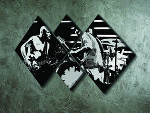 Red Hot Chili Peppers 4 Square Multi Panel Canvas - Canvas Art Rocks - 2