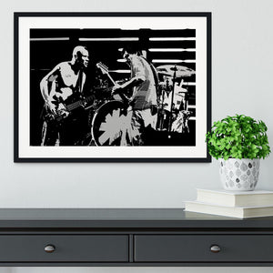Red Hot Chili Peppers Framed Print - Canvas Art Rocks - 1