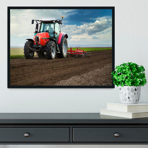 Red Tractor Framed Print - Canvas Art Rocks - 2