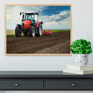 Red Tractor Framed Print - Canvas Art Rocks - 4