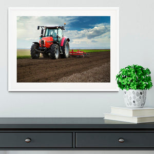 Red Tractor Framed Print - Canvas Art Rocks - 5