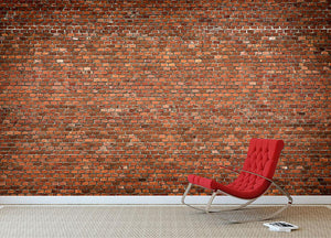 Red brick wall texture Wall Mural Wallpaper - Canvas Art Rocks - 2