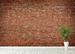 Red brick wall texture Wall Mural Wallpaper - Canvas Art Rocks - 4