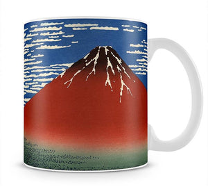 Red southern wind on Fiji on a clear morning by Hokusai Mug - Canvas Art Rocks - 1