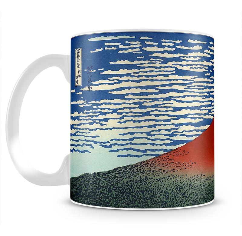 Red southern wind on Fiji on a clear morning by Hokusai Mug - Canvas Art Rocks - 2
