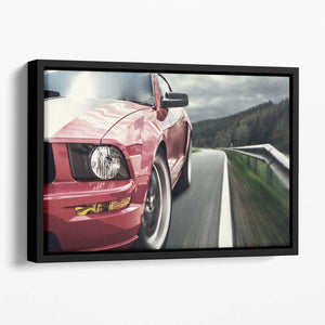 Red sport car Floating Framed Canvas