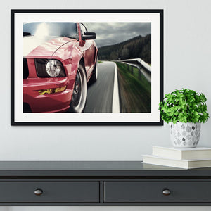 Red sport car Framed Print - Canvas Art Rocks - 1