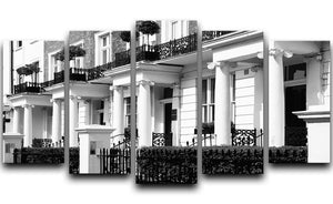 Regency Georgian terraced town house 5 Split Panel Canvas  - Canvas Art Rocks - 1
