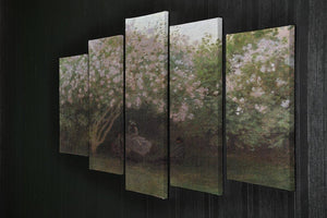 Repos sous les lilas 1872 by Monet 5 Split Panel Canvas - Canvas Art Rocks - 2