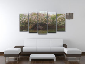 Repos sous les lilas 1872 by Monet 5 Split Panel Canvas - Canvas Art Rocks - 3