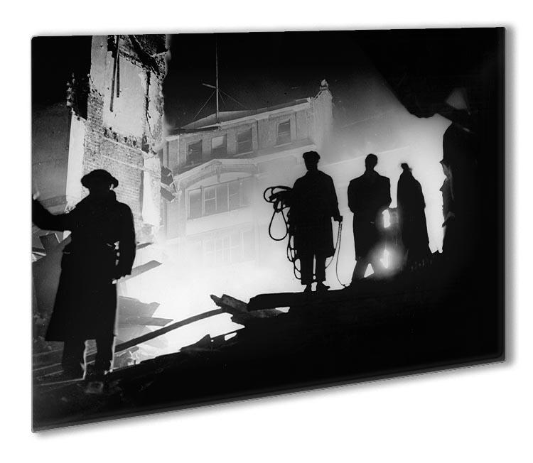 Rescuers in Soho London Outdoor Metal Print - Canvas Art Rocks - 1