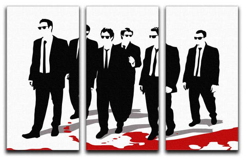 Reservoir Dogs 3 Split Canvas Print - They'll Love Wall Art