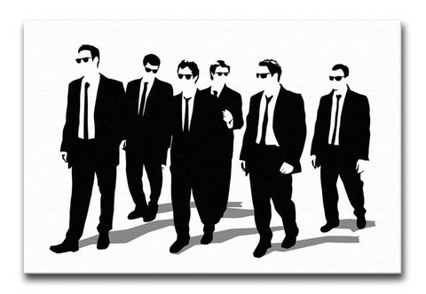 Reservoir Dogs Silhouettes Print - Canvas Art Rocks - 1