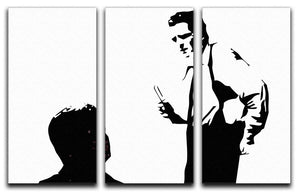Reservoir Dogs Black and White 3 Split Panel Canvas Print - Canvas Art Rocks - 4