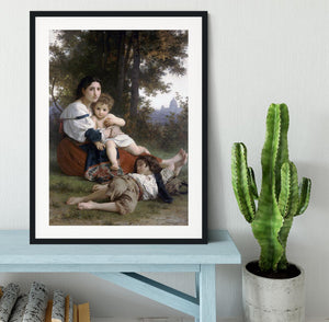 Rest By Bouguereau Framed Print - Canvas Art Rocks - 1