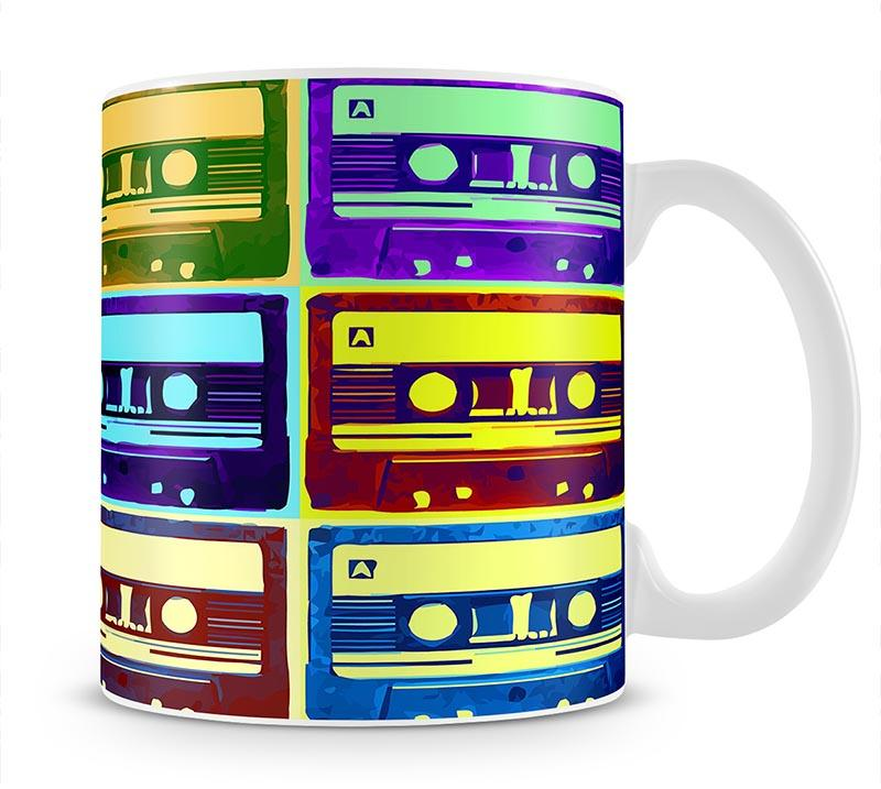 Retro Tape Cassettes Mug - Canvas Art Rocks - 1