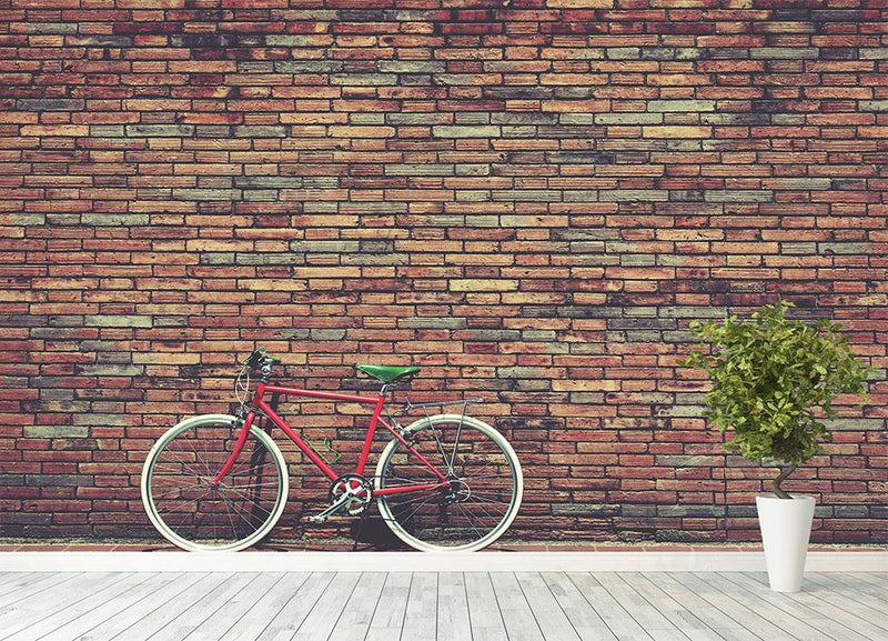 Retro bicycle on roadside Wall Mural Wallpaper - Canvas Art Rocks - 4