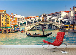 Rialto Bridge Venice Wall Mural Wallpaper - Canvas Art Rocks - 2