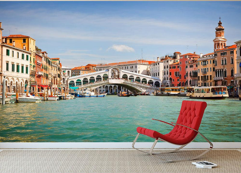 Rialto Bridge Wall Mural Wallpaper - Canvas Art Rocks - 1
