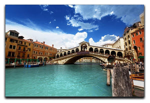 Rialto bridge in Venice Canvas Print or Poster  - Canvas Art Rocks - 1
