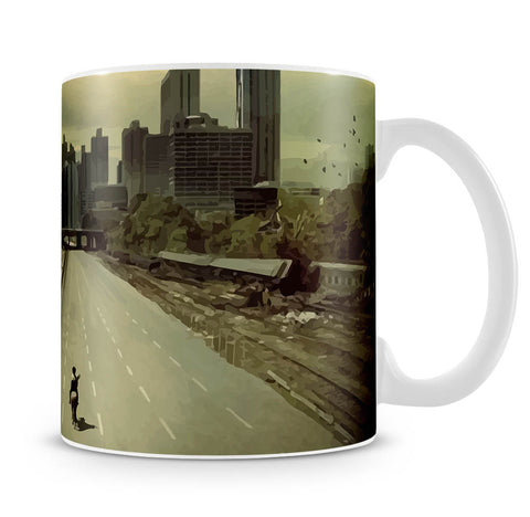 Rick Riding Into Atlanta City The Walking Dead Mug