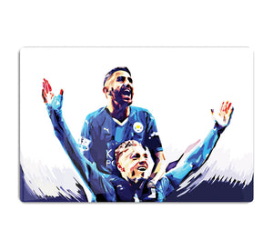 Rihad Mahrez and Jamie Vardy HD Metal Print