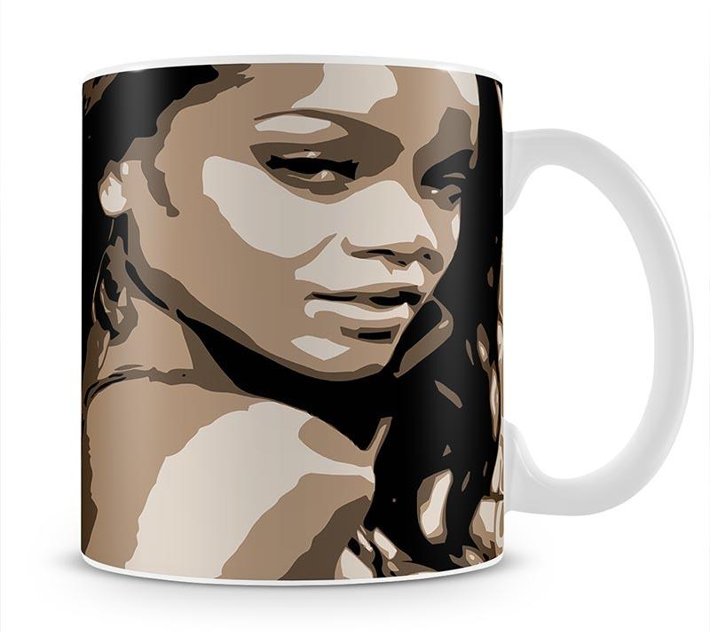 Rihanna Pop Art Mug - Canvas Art Rocks - 1
