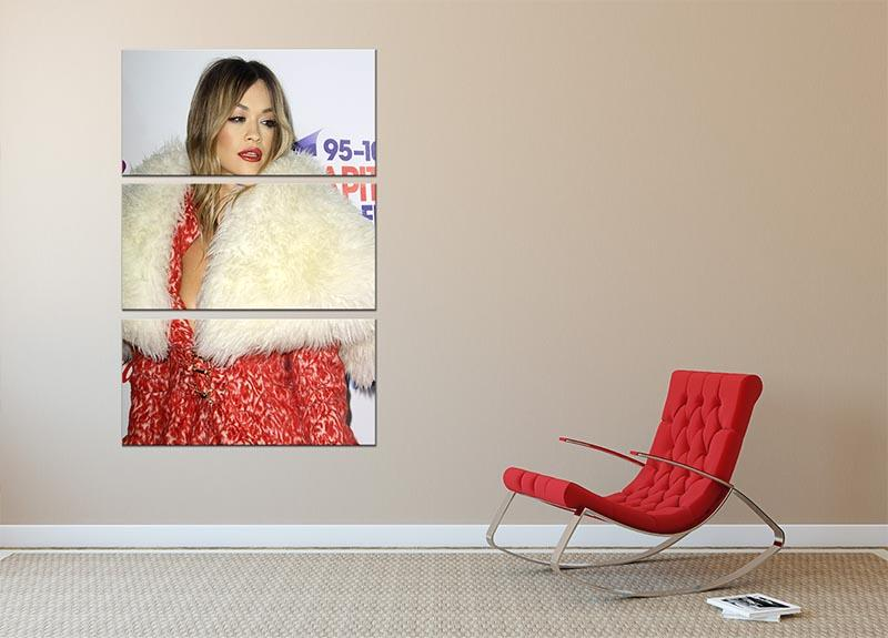 Rita Ora in red 3 Split Panel Canvas Print - Canvas Art Rocks - 2