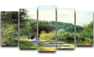 Road to Louveciennes by Renoir 5 Split Panel Canvas  - Canvas Art Rocks - 1